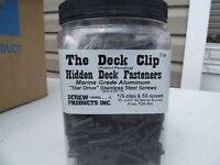Hidden Deck Screws And Clips