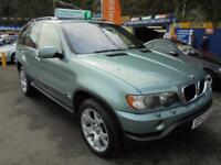 2003 53 BMW X5 3.0 DIESEL SPORT AUTO IN SILVER GREEN # FULL CREAM LEATHER #