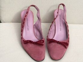 Ladies Shoes ....Roland Cartier ....dusky pink suede ...size 40
