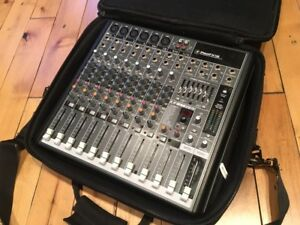 Mackie Pro FX 12 compact mixer with USB and effects.