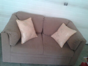 Re-upholstered Older clean Sofa(Love seat, Couch), Incl Delivery