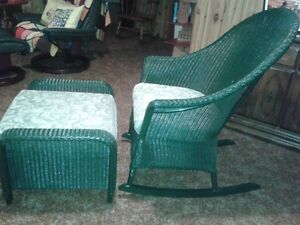 HAUSER wicker rocking chair LIKE NEW