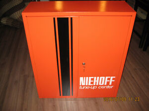 "VINTAGE NIEHOFF ""TUNE UP CENTER"" METAL CABINET#S101"