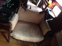 Gold throne chair antique