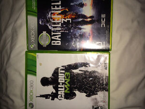 Battle field 3 and mw3 Xbox 360 Cambridge Kitchener Area image 1