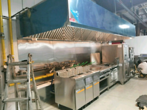 KITCHEN HOOD, EXHAUST SYSTEM AND FIRE SUPPRESSION
