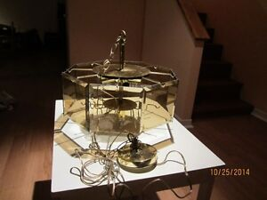 3 Tier Dining Room Chandelier With Amber Smoked Glass Panels West Island Greater Montréal image 3
