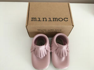 """Minimocs """"Piglet"""" Moccasins (size 3) - NEW / NEVER USED"""