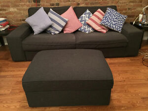 Kivik couch and footstool