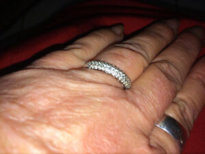 Diamond Ring....inside ring are little hearts....Size 7