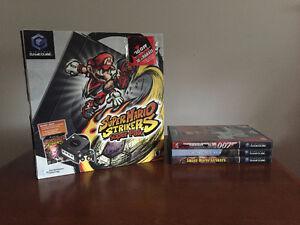 Black Nintendo Gamecube + Games