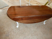 Solid Cherry Coffee Table with Drop Leafs