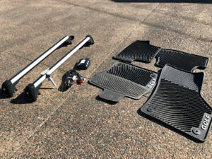 VW Accessories - roof rack, mats, block heater, wheel locks