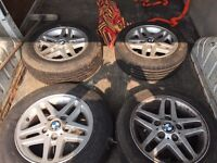 "BMW 16"" Alloys with staggered tyres from E46"