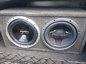 """Two 12"""" subwoofers"""