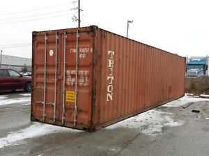 40' and 20' Used Portable Steel Shipping Storage Containers