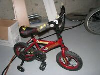 kids bike with training wheels, barely used