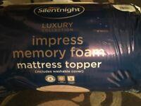 Silentnight 5cm Double Memory Foam Mattress Topper