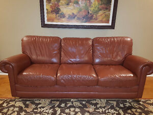 Brown Natuzzi Italian Leather Couch