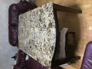 Marble Top almost new never used Dinning Table with 6 chairs