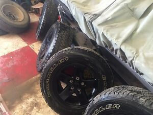 245/75r 17 tires and rims x4 jeep jk