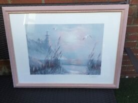2 lovely fully glazed large pictures bargain at £15 for both