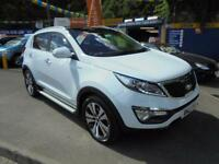 2013 13 KIA SPORTAGE 2.0 CRDI KX-3 AWD IN WHITE # SAT NAV LEATHER FSH #
