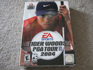Tiger Woods EA Sports PGA Tour 2004 3 disc PC CD-Rom game