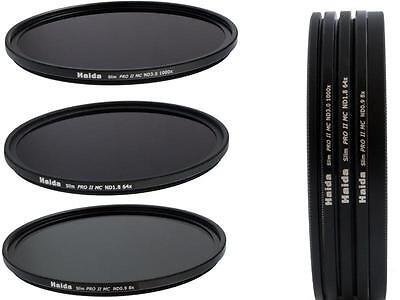 Haida Slim PRO II MC Digital ND Graufilterset ND8 ND64 ND1000 Größe 58 mm