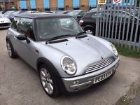 MINI COOPER 1.6 PETROL MANUAL 2003 PANORAMIC ROOF RED SEATS