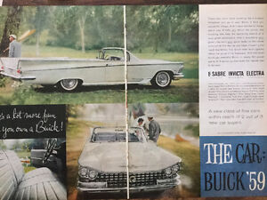 Late 50's Car Ads