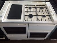 White new world 100cm gas cooker grill & oven good condition with guarantee