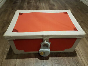 IKEA red pirate toy box with matching mirror