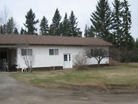 house and acreage with a view