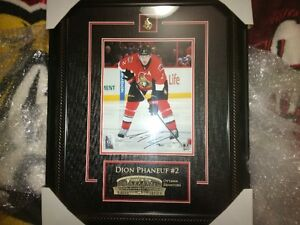 mint condition autographed dion phaneuf 125.00 o.b.o Cornwall Ontario image 1