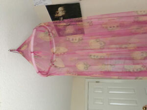 Cute pink monkey princess canopy bed mosquito net $10 disney