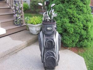 Mens Right Hand 13-pc Golf Clubs Set (Integra Saberhawk) & Bag