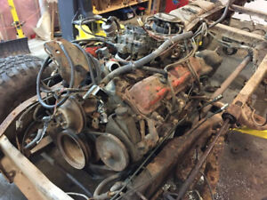 SBC 350 with 4spd and NP205 Transfer case