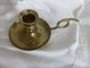 BRASS CHAMBER CANDLE HOLDER.