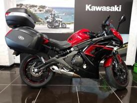 KAWASAKI ER6F - ABS EX650 FGF In Red 3 Box Givi System, Low Mileage