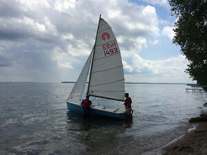 Tasar racing sailboat