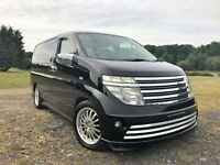 FRESH IMPORT NISSAN ELGRAND V6 RIDER PETROL 4WD CAMPER VAN FULL SIDE CONVERSION