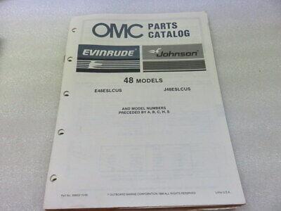 PM64 1987 OMC Evinrude Johnson 48 Models Parts Catalog Manual P/N 398852