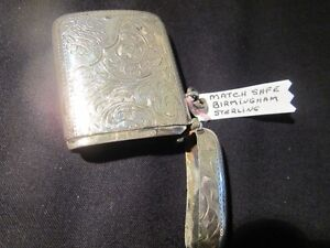 BIRMINGHAM STERLING SILVER MATCH SAFE
