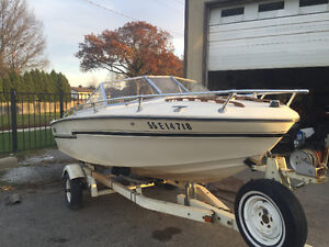 Tempest runabout 17ft with trailer sea ray bayliner bowrider London Ontario image 2