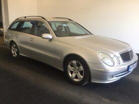 2004 04 Reg Mercedes E270 2.7 CDI Avantgarde, Diesel, Estate, 5 Door, Automatic, Metallic Silver