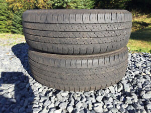 Two P195/65R15 Winter Tires Good Tread