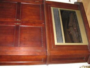 cabinet with fireplace