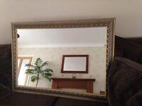 Gold antique framed mirror