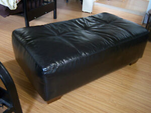 Large Leather Ottoman / 51' x 28'